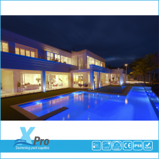 Ultradunne 250 x 8mm LED Zwembadverlichting 30 watt 316S -