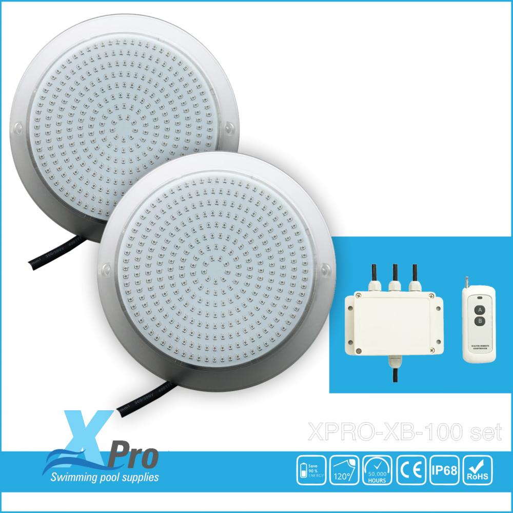 Surface-mounted pool lighting LED 324 12V AC 25 W set -