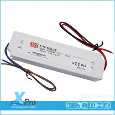 MEAN WELL LED transformer 12 V/DC 100 W 0-5 A LPV-100-12 Waterproof (IP67) -