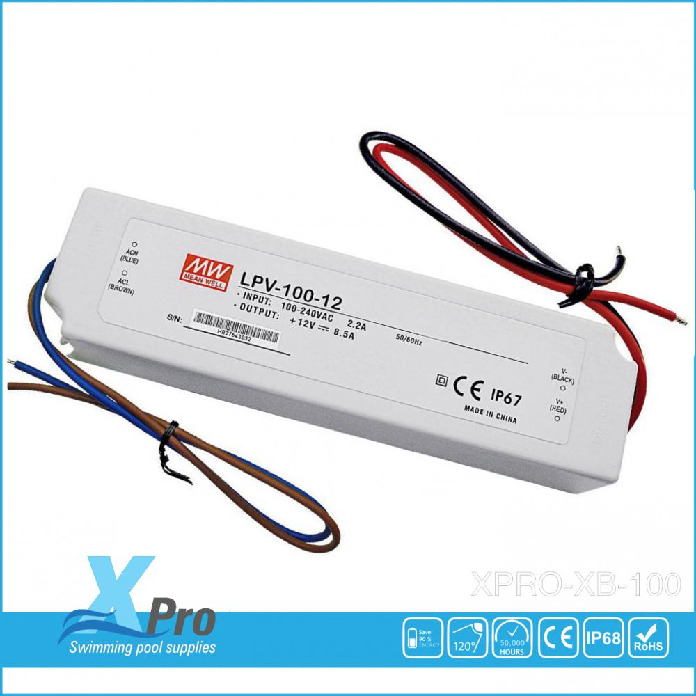 Transformador LED MEAN WELL 12 V/DC 100W 0 - 5 A LPV-100-12 Estanco (IP67) -
