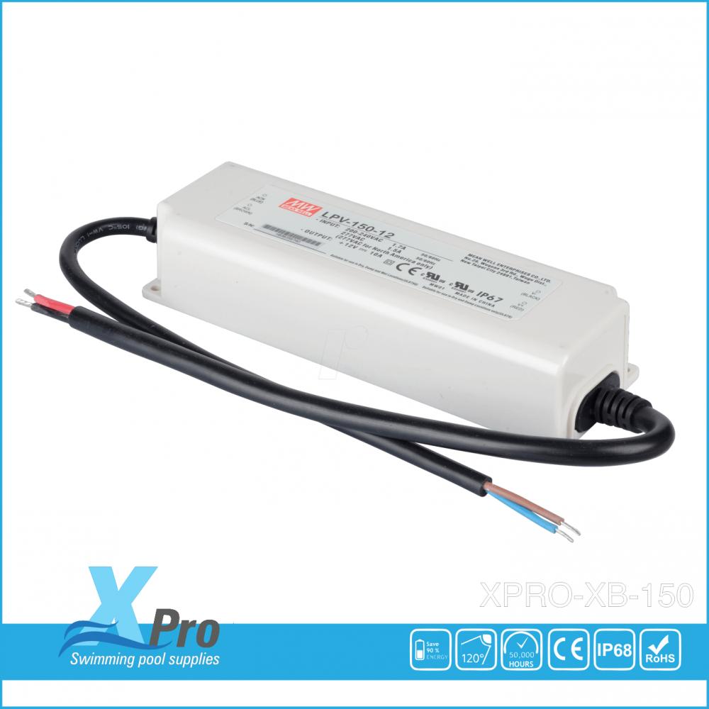 MEAN WELL LED-transformator 12 V/DC 150 W 0 - 5 A  LPV-100-12 Waterdicht (IP67) -