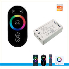 RGBW TUYA 2.4G Wireless Mesh Sync Control 4CH Full Touch Remote Control RGBW Wifi Controller -